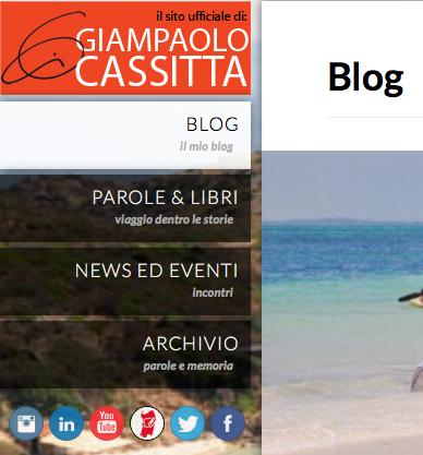 il sito ufficiale di Giampaolo Cassitta